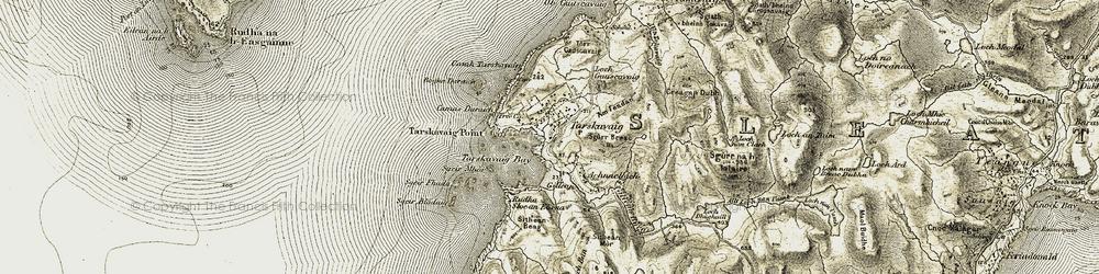 Old map of Am Feadan in 1906-1908