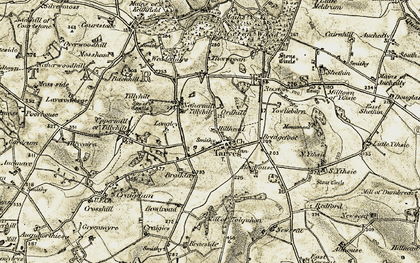Old map of Youlieburn in 1909-1910