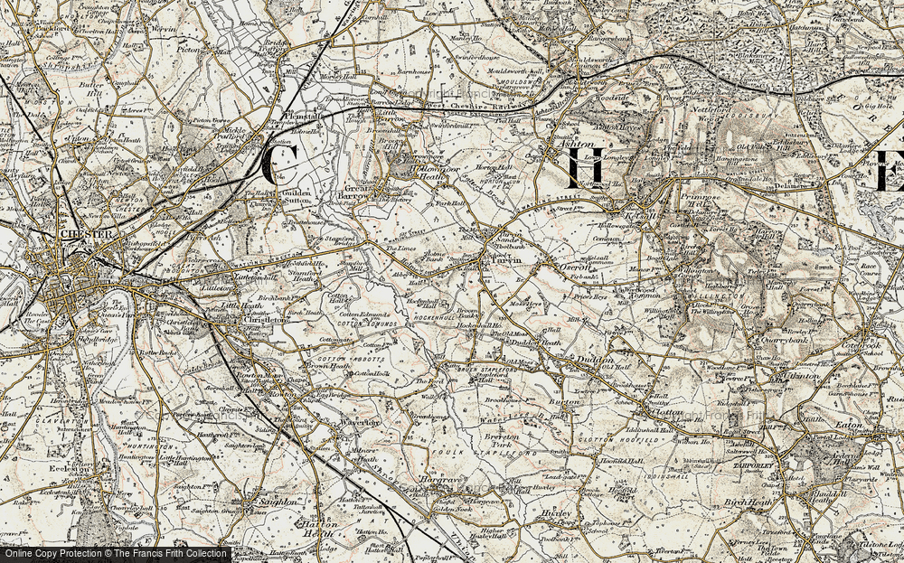 Old Map of Historic Map covering Abbeyfield in 1902-1903