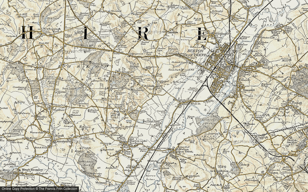 Old Map of Tatenhill, 1902 in 1902