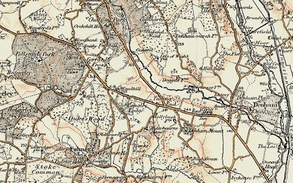 Old map of Tatling End in 1897-1898