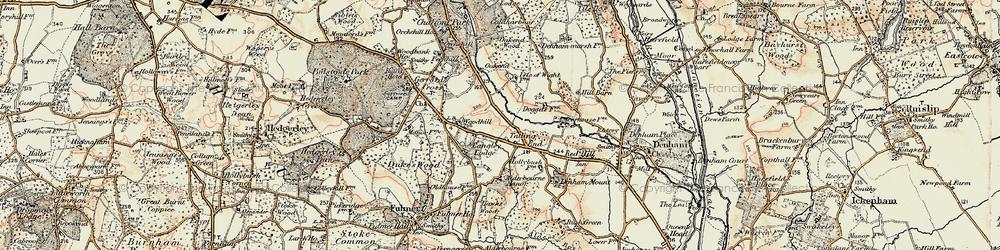 Old map of Alderbourne Manor in 1897-1898