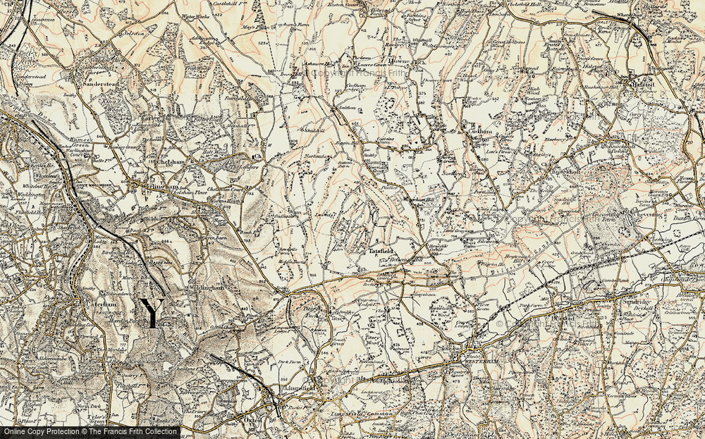 Old Map of Tatsfield, 1897-1902 in 1897-1902