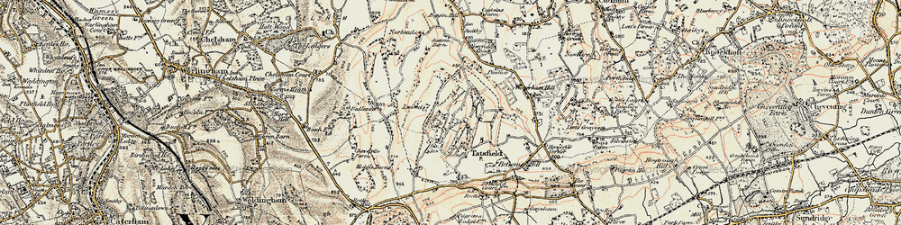 Old map of Tatsfield in 1897-1902