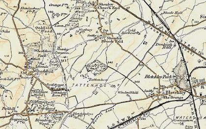 Old map of Tattenhoe in 1898-1901