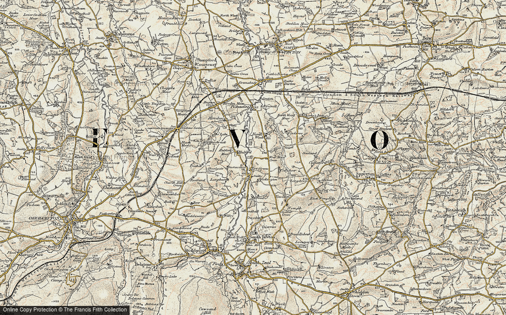 Old Map of Historic Map covering Langabeer in 1899-1900