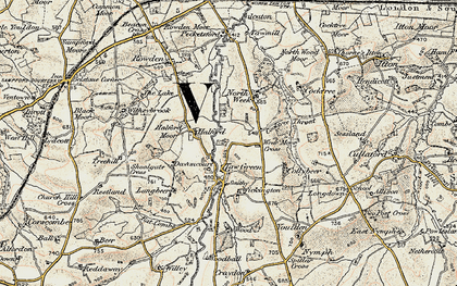 Old map of Wickington in 1899-1900
