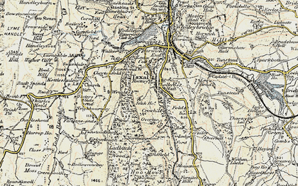 Old map of Taxal in 1902-1903