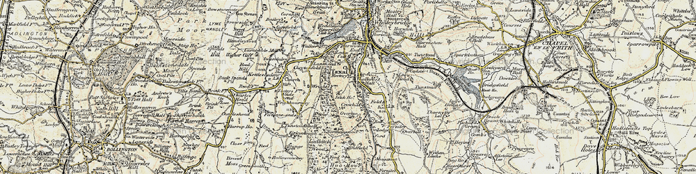Old map of Windgather Rocks in 1902-1903