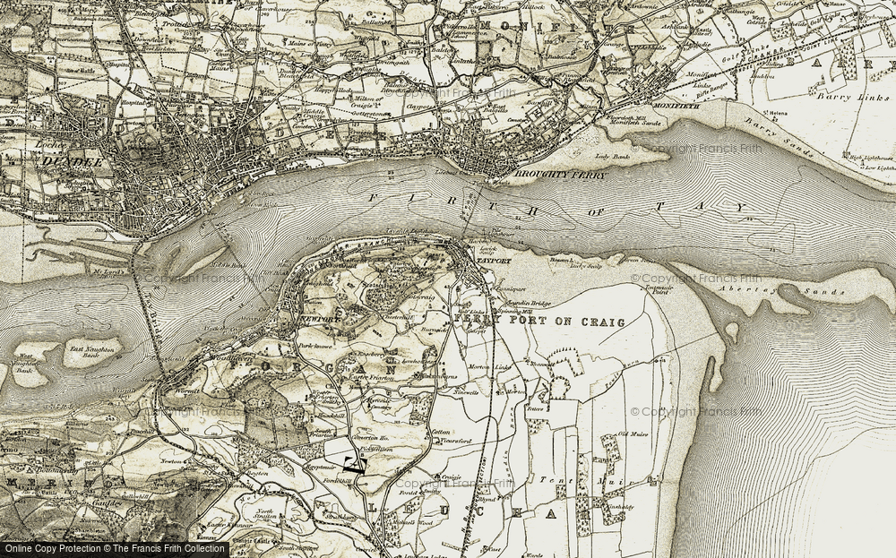 Old Map of Historic Map covering Larick Scalp in 1907-1908