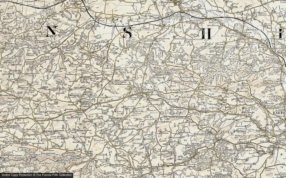 Old Map of Historic Map covering Lilly Brook in 1899-1900