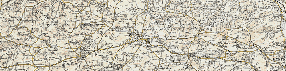 Old map of Frankford in 1899-1900