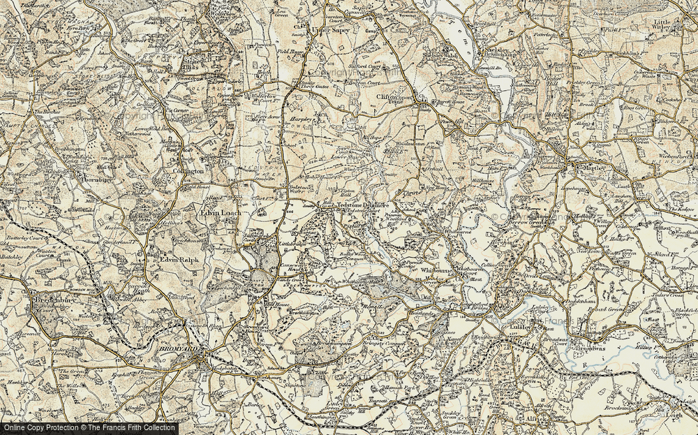 Old Map of Historic Map covering Tidbatch in 1899-1902