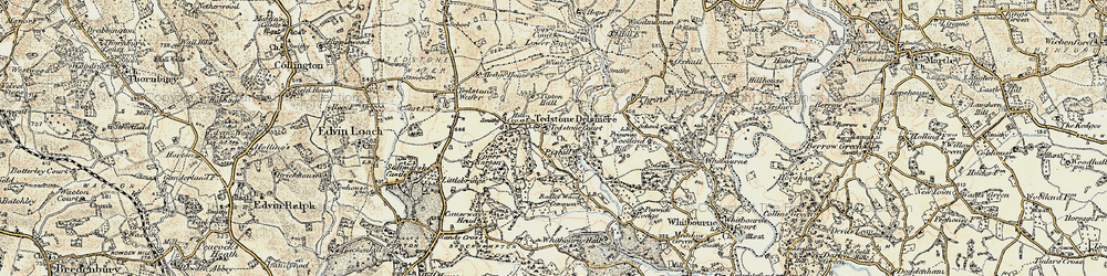 Old map of Tidbatch in 1899-1902