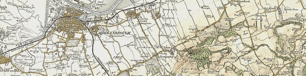 Old map of Teesville in 1903-1904