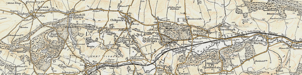 Old map of Wick Ball Camp in 1897-1899