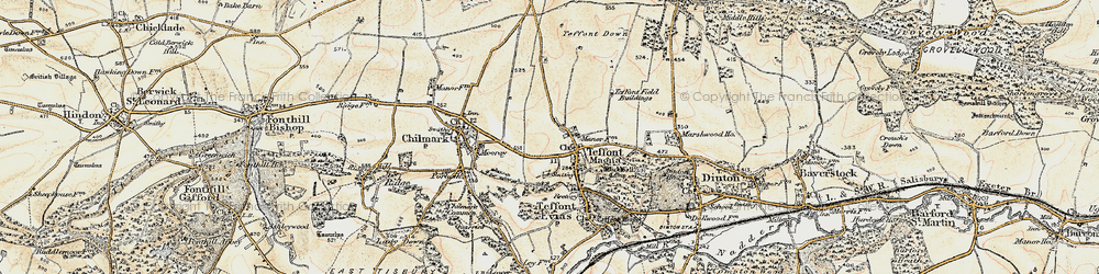 Old map of Teffont Magna in 1897-1899