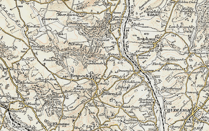 Old map of Whetcombe Barton in 1899-1900