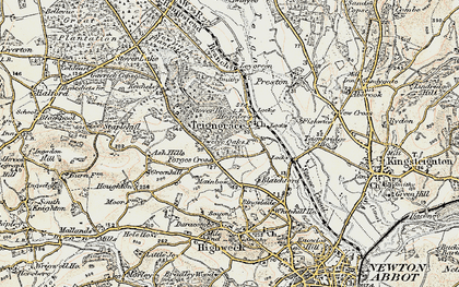 Old map of Leygreen in 1899