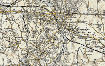 Old map of Telford in 1902