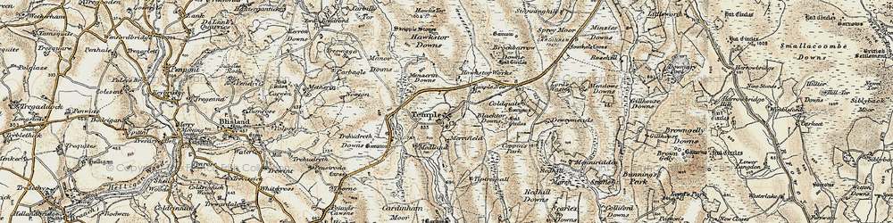Old map of Tiptreehall in 1900