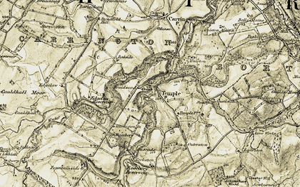 Old map of Allanshaw Wood in 1903-1904