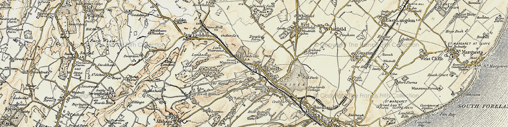 Old map of Woodville in 1898-1899