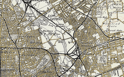 Old map of Temple Mills in 1897-1902