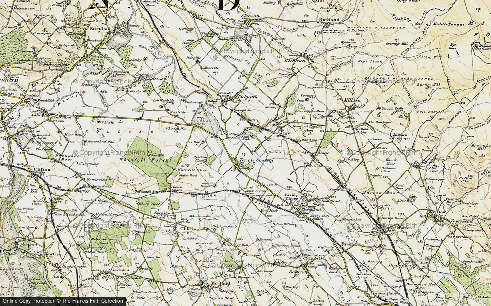 Old Map of Historic Map covering Ash Hill in 1901-1904