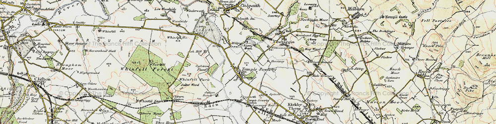 Old map of Acorn Bank in 1901-1904