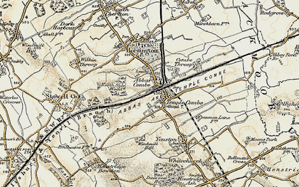 Old map of Templecombe in 1899