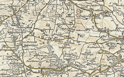 Old map of West Bradley in 1899-1900