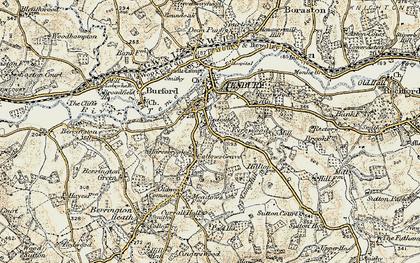 Old map of Tenbury Wells in 1901-1902