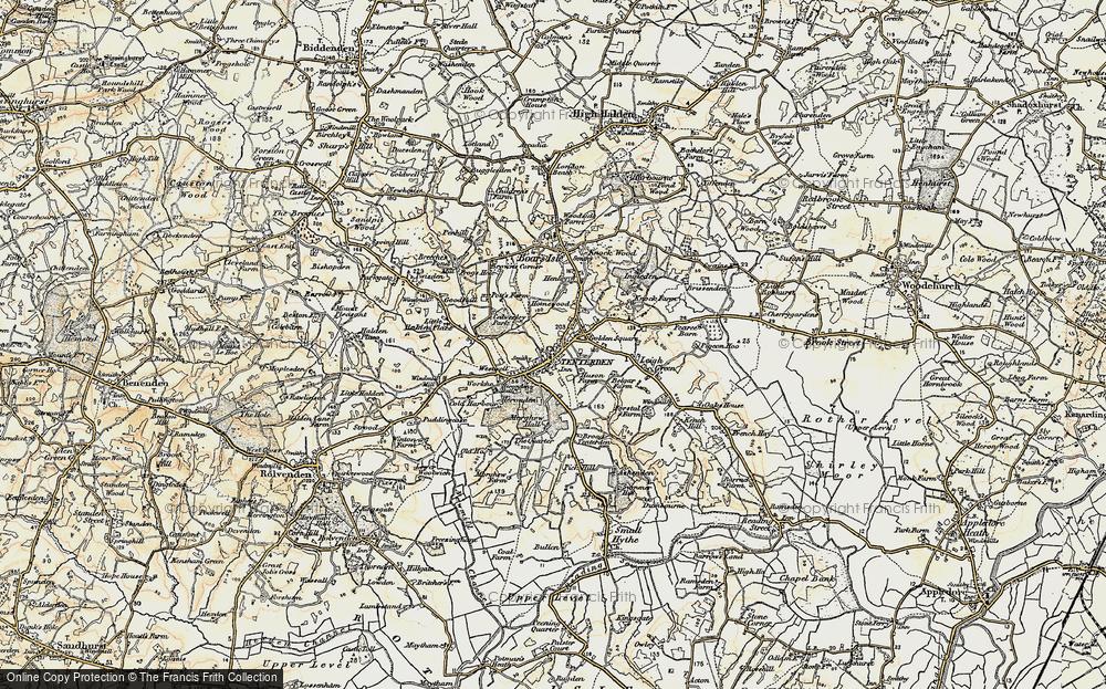 Old Map of Tenterden, 1898 in 1898