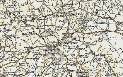 Old map of Tenterden in 1898
