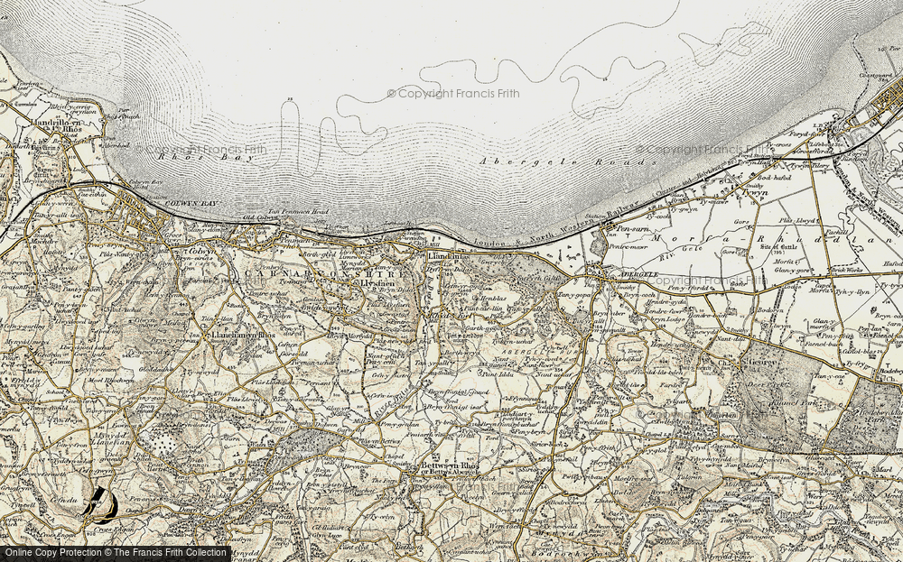 Old Map of Historic Map covering Abergele Roads in 1902-1903
