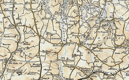 Old map of Terras in 1900