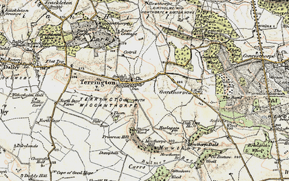 Old map of Terrington in 1903-1904