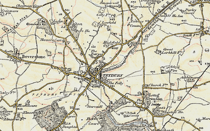 Old map of Tetbury in 1898-1899