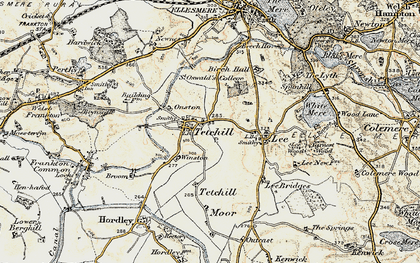 Old map of Winston in 1902