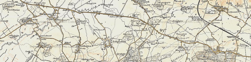 Old map of Tittershall Wood in 1898-1899