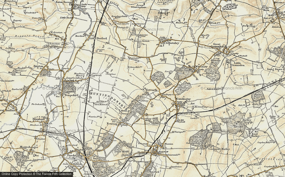 Old Map of Historic Map covering White Wood in 1898-1901