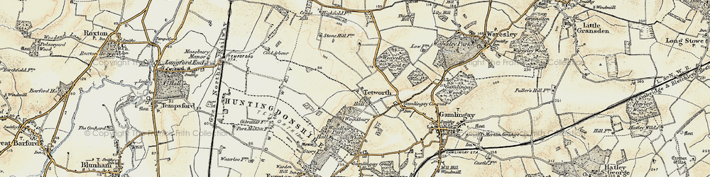 Old map of White Wood in 1898-1901