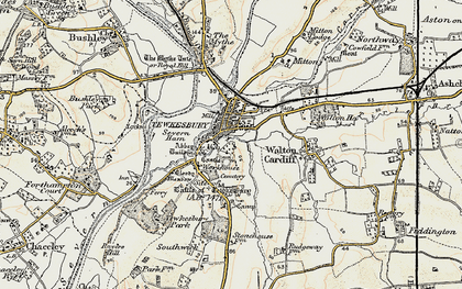 Old map of Tewkesbury in 1899-1900