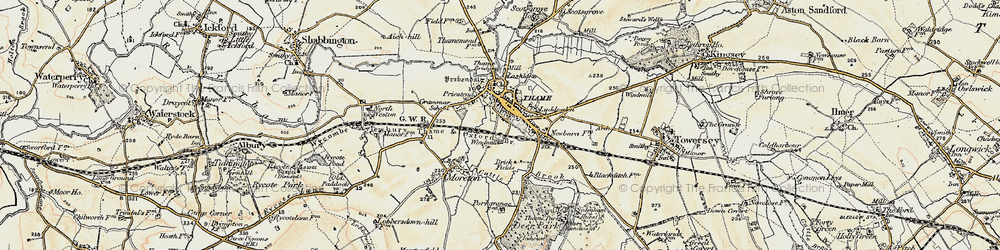 Old map of Thame in 1897-1898