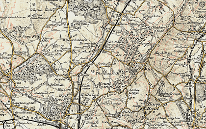 Old map of Ackers Crossing in 1902-1903