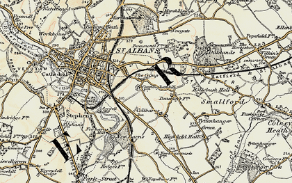 Old map of The Camp in 1898