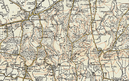 Old map of The Chart in 1898-1902