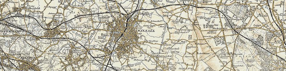Old map of Wren's Nest in 1902