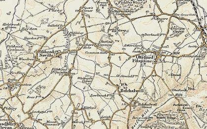 Old map of Banbury Hill in 1897-1909